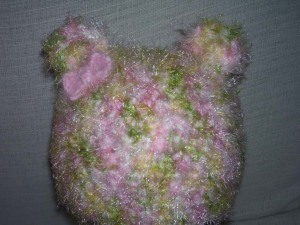 Toddler Bear Hat with Pink Bow