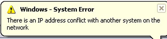 how to fix ip address conflict