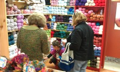Can you tell these ladies love yarn?