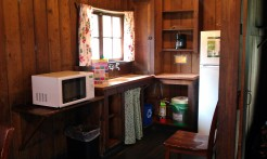 Similar kitchen to the other cabin.