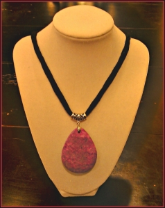 charoite crochet necklace