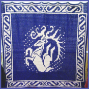 5 Ft Leaping Dear Tapestry - Aberrant Crochet