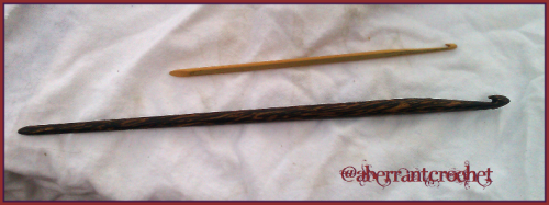 Crochet Hook Hair Sticks - Made By Aberrant Crochet 1