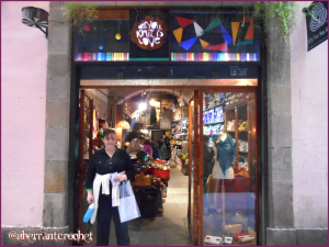 Aberrant Crochet visits - All You Knit Is Love - in Barcelona Spain