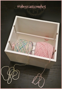 Yarn feeder stand hack - by Aberrant Crochet -2