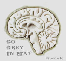 Go Grey In May - Glioblastoma Brain Cancer Awareness Graphic by Aberrant Crochet