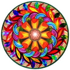 Stained glass mandala love
