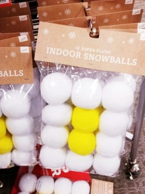 Indoor Snowballs from Kohl's